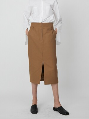 Skirt H Slit Beige