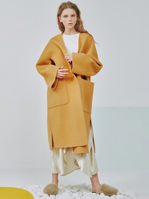 Vonnie handmade coat [Milk caramel]