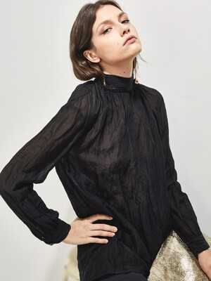 BEATRICE SEE-THROUGH TURTLE NECK BLOUSE