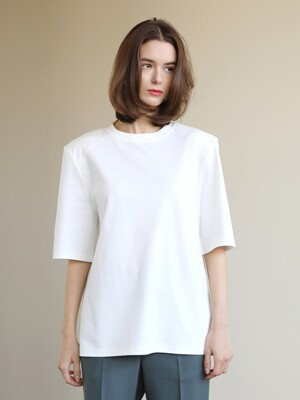 Shoulder pad t-shirts_White