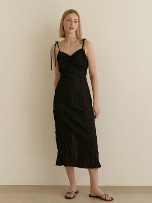 Resort wrinkle dress_2colors