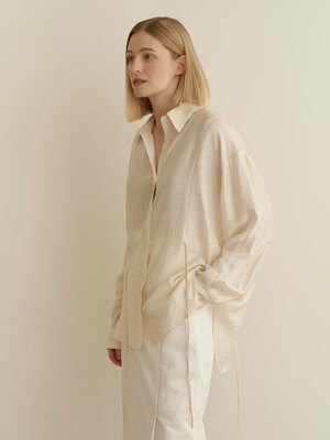 Resort string shirts-Cream