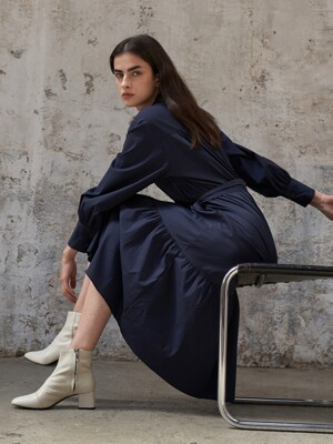 Indigo Long Shirtdress