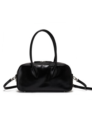 BOWLING LEATHER HANDBAG, BLACK