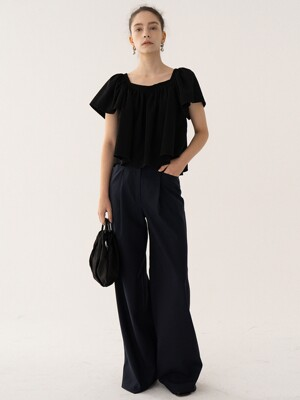 SS21 New Wide Pants Dark-navy