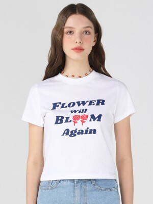 FWBA crop T shirts [White]