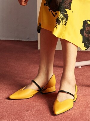 Fairy pitta flat / YY8S-F04 Yellow+Black