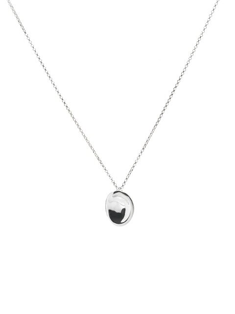 OVAL STUD NECKLACE
