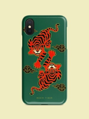 Red Hunting Tiger Phone Case