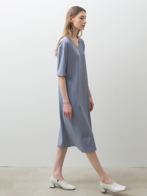 Ribbed One-piece - Dust Blue