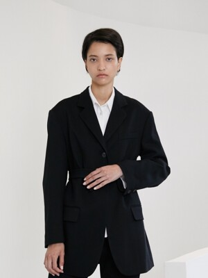 SO MANNISH JACKET [BLACK]