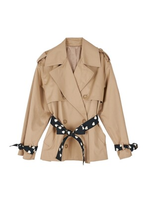 Lovers half trench jacket - Beige