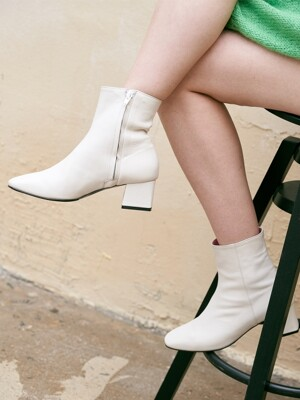 havel ankle boots - ivory
