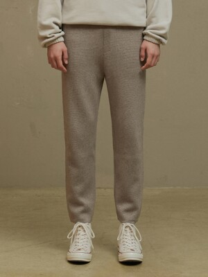 CGREY KNIT DRAW PANTS (TC1KNVF0909)
