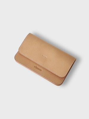 Crepe Long Wallet (Beige)
