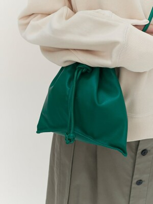 Green Leather Bucket Bag - Green (KE08D3M01M)