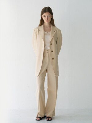 21' Spring_ Antique Ivory High-rise Wide Trousers
