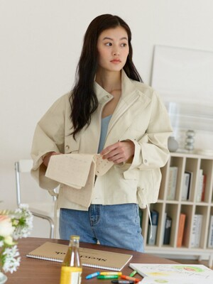 Basic Big Pocket Field Jacket_Ivory