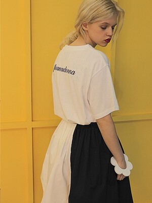 17SS FLEAMADONNA EMBROIDERY T-SHIRT