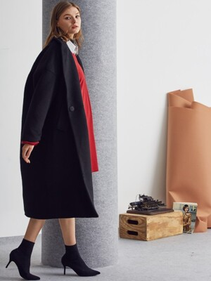 LA LONG OVER COAT(BLACK)