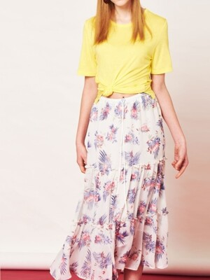 CHIFFON TIERED SKIRT