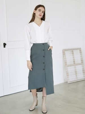 LONG SLIM SKIRT KHAKI