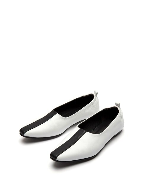 Towton flat shoes white