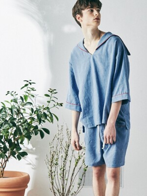 [M] Sam Short Sleeve PJ Set Arctic Blue