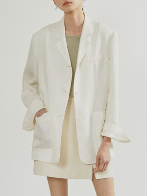 19SR DAILY LINEN JACKET (WHITE)
