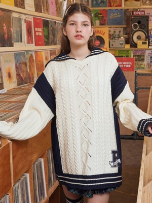 (KT-19535) SAILOR COLOR BLOCK KNIT IVORY