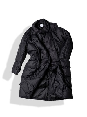 MAXI RAP DOWN COAT / BLACK