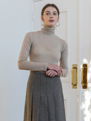 SILKY WOOL TURTLENECK_BEIGE