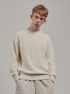 19FW PREMIUM COTTON KNIT [IVORY]