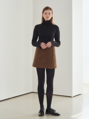 19N winter mini wrap skirt [BR]