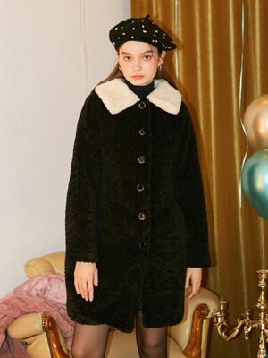 Teddy Bear Coat_ Black