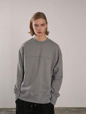 HIDDEN POCKET SWEATSHIRTS [GREY]