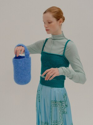 PIPE Knitted Paneled Vest Green