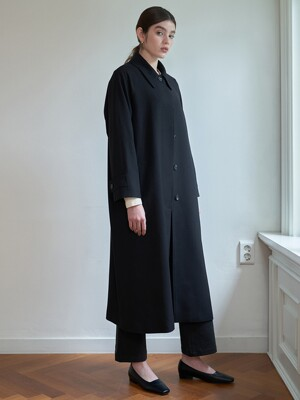 HIDDEN OVERSIZED MAC COAT_BLACK
