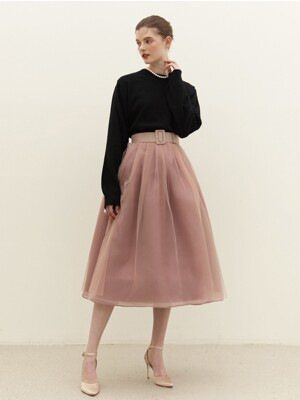 CHARMANT Tulle skirt (Dusty pink)