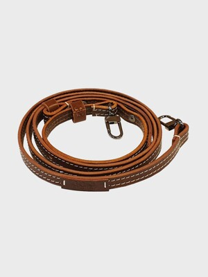 Leather  Shoulder & Crossbody Strap (Slender) / Brown