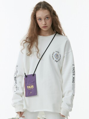 Kai Raw Hem Sweatshirt (White)