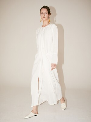 [Signature] ROBE Drape Dress_Off White