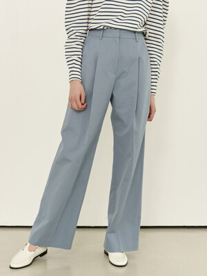 BORAMAE Wide leg trousers (Blue gray)