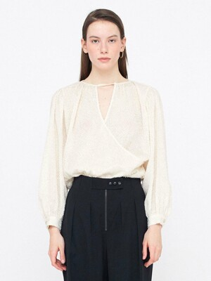 Layered Peasant Blouse_Cream
