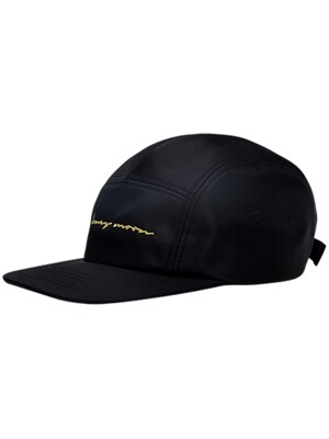 Honey Moon Embroidered Nylon Cap (BLACK)