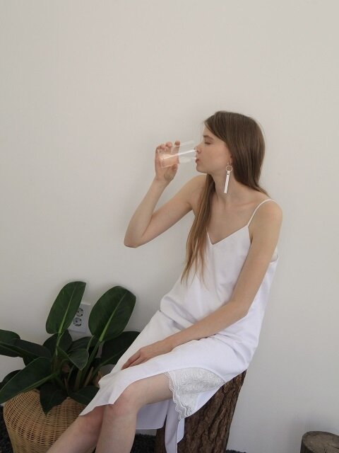 17 SUMMER,  SLIP ONE-PIECE - WHITE