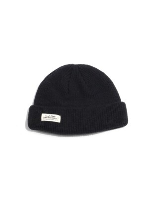 WH LABEL WATCH CAP - BLACK