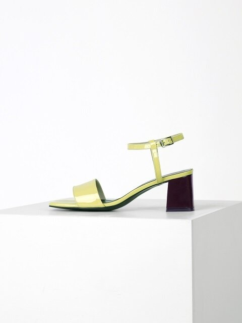 COLOR POINT SANDAL - YELLOW + WINE