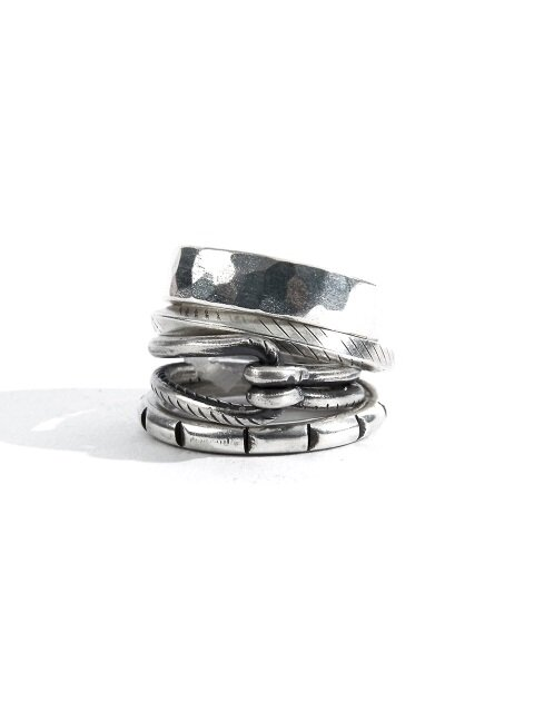 SEWN SWEN SILVER 4 COMBINATION LINE LINK RING