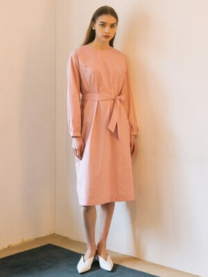 Clean Cotton Dress - Pink